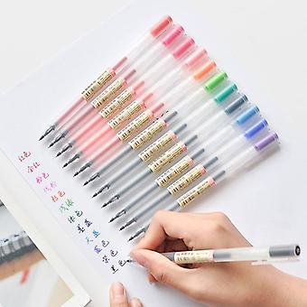 Creative Gel Ink Pens, Marker Writing Stationery Fashion Style, School Office
