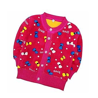 New Cartoon Long Sleeve Plus Thick Velvet Warm Clothes Kids Pulover