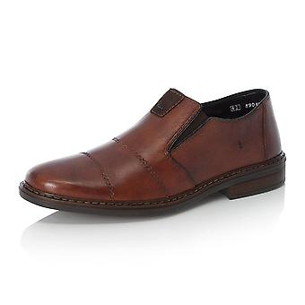Rieker 17661-23 Cavalery Mens Smart-casual Leather Slip On Shoe In Whisky