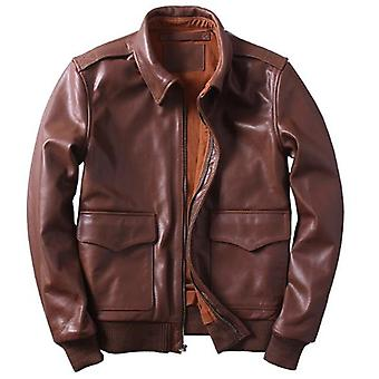Us a2 flight mens bomber genuine leather jacket