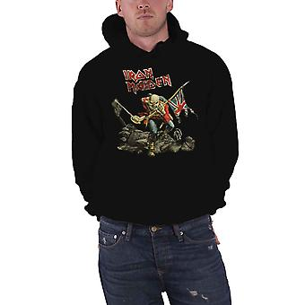Iron Maiden The Trooper Distressed Official Mens New Black Pullover Hoodie