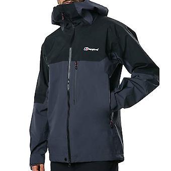Berghaus Extrem 5000 Mens Outdoor Waterproof Full Zip Hooded Jacket Coat Grey
