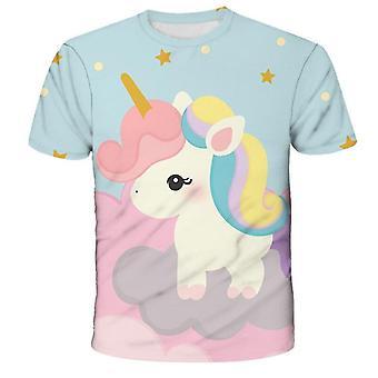 Unicorn Cartoon Print Sweatshirt voor Baby