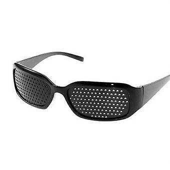 Paranna neulanreikä silmälasit liikunta näön paraneminen parantaa hoito (musta)