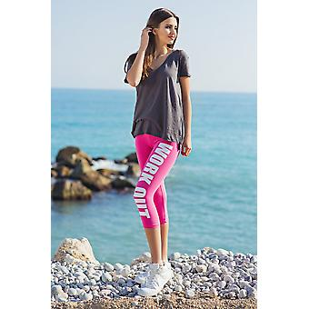 Women's 3/4 Work Out Gym Running Stretchy Pant