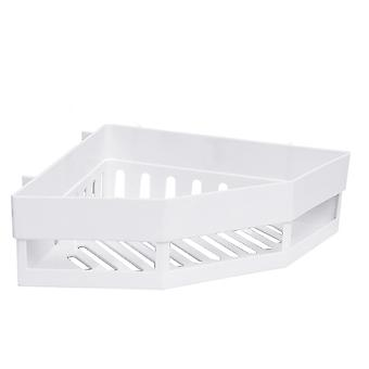 Free Punch Corner Shelf Fixed Corner Storage Shelf White