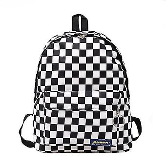 Women Men Unisex Lattice Backpack New Trend Checkerboard / Couples Back Pack