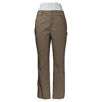 Lee Women's Pants Secretly Shapes Twill Straight-Leg Light Fawn Brown