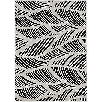 "LUC 2770 23""X 45"" - Tapis noir/blanc"