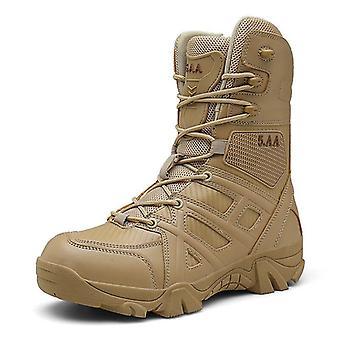 Vojenské kožené speciální síly Taktické pouštní bojové boty