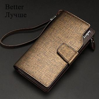 Baellerry Men Wallets Long Style High Quality Card Holder Male Purse Zipper