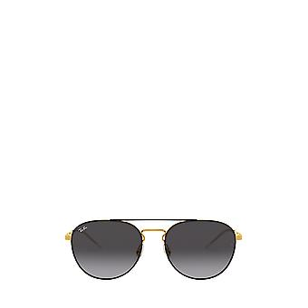 Ray-Ban RB3589 gold top on black unisex sunglasses