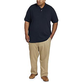 Essentials Men's Big & Tall Cotton Pique Polo shirt fit by DXL, Navy, 2XLT