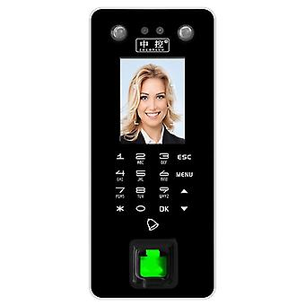 ZOKO ZK-FA50 HD Dobbeltkameraer Fingeraftryk Face Access Control System 2,8 inches skærm TFT Password F