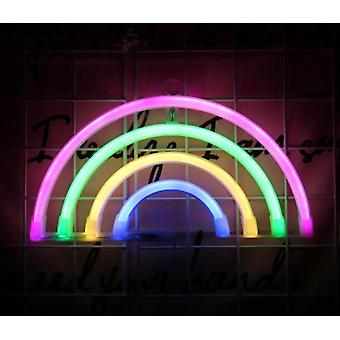 Luova Led Neon Light Sign Love Cat Rainbow Lip Neon -lamppu juhlahäihin