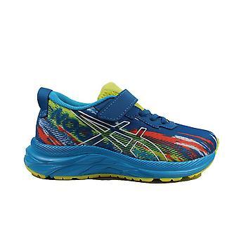 Asics Pre Noosa Tri 13 PS Reborn Blue/Sour Yuzu Mesh Childrens Running Trainers