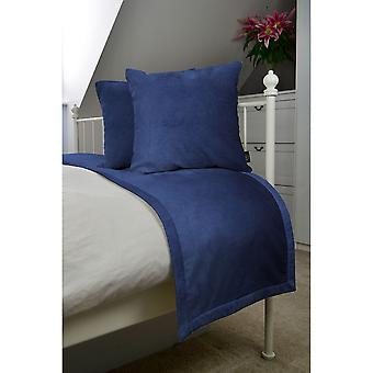 Matt navy blue velvet bedding set
