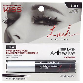 Kiss Lash Couture Strip Lash Adhesive in Black with Brush Tip Applicator - 5g