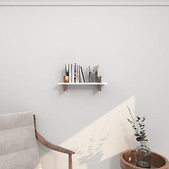 Norma White Shelf, Melamine Chipboard Wood, L50xP20xA15 cm