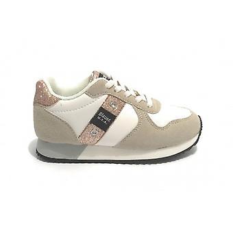 Shoes Blauer Sneaker Lilli Ecosuede/ Ecopelle Beige/ White/ Glitter Z21bu04