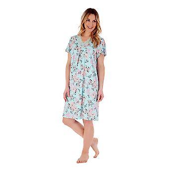 Slenderella Gaspe GL77701 Women's Floral Nightdress