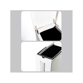 Bathroom Trash Can with Lid Toilet Brush Set Bathroom Accessories