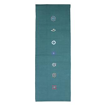 Fitness Mad Chakra Yoga alfombra - verde