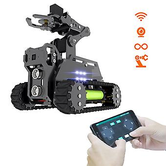 Wifi Wireless Smart Robot Kit Tank 4-dof Robot Arm s otvoreným cv cieľovým sledovaním