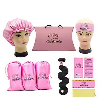 Hair Bundle Packaging Satin Bags/ Hang Tag / Sticker Wraps/ Bonnets/ Headband