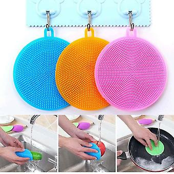 Multi-functional Kitchen Cleaning Silicone Dishcloth Brush  (random Color)