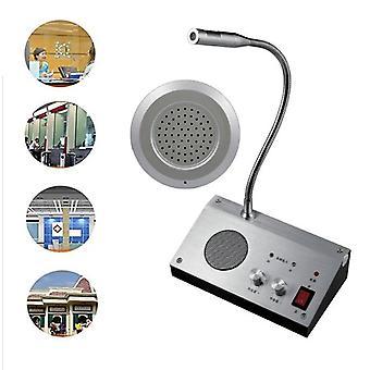 Walkie Dual Channel Talkie Intercom Ulkoinen kaiutinjärjestelmä, Pankkikonttori