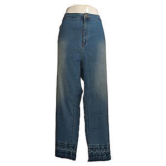 Susan Graver Regelmæssig Hej Stretch Denim Plus Lige Ben Jeans Blue A349887