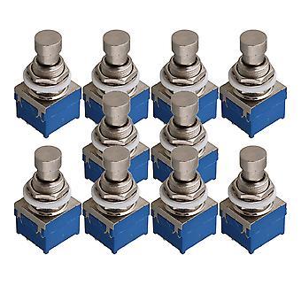 10 x Effekter Pedal 3PDT 9-benet fodkontakt W/Lockwasher Nylon Switches
