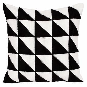 Collection d'Art Cross Stitch Kit: Cushion: Black-And-White