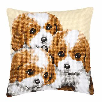 Vervaco Cross Stitch Kit: Coussin: Chiots