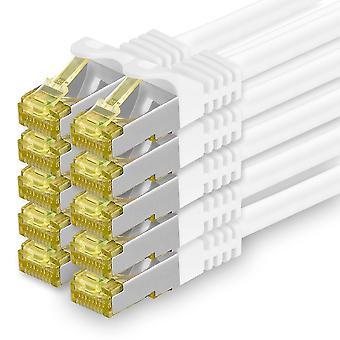Cat.7 Netzwerkkabel 3m Weiß 10 Stück Cat7 Ethernetkabel Netzwerk LAN Kabel Rohkabel 10 Gb s SFTP