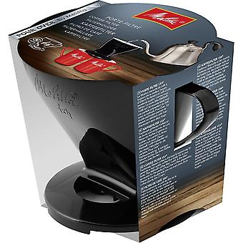 HanFei Kaffeehalter für Filtertüten, Kaffeefilter 1x4 Standard, Kunststoff, Schwarz, 217564