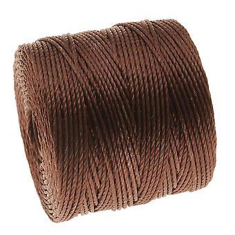 Super-Lon (S-Lon) Cord - Size 18 Twisted Nylon - Brown / 77 Yard Spool