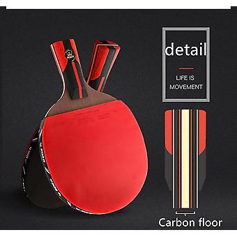 1pes Top Carbon Quality Black Table Tennis Bat(Short)