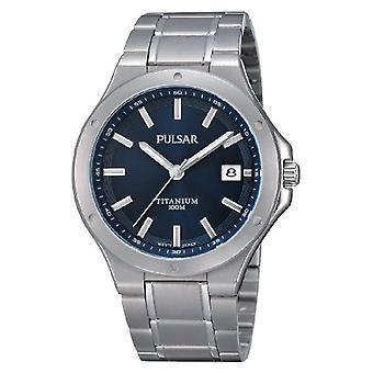 Pulsar Uhren PS9123X1 - Men's wristwatch, titanium, color: silver