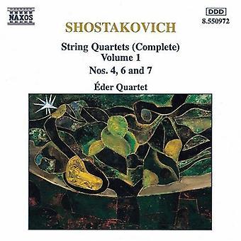 D. Shostakovich - Shostakovich: String Quartets (Complete), Vol. 1 [CD] USA import