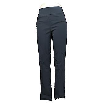 Martha Stewart Women's Pants 8 T Stretch Twill Pull-On Ankle Blue A365216