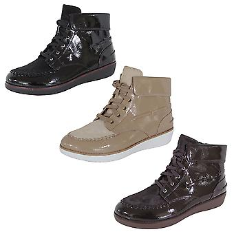 Fitflop Femmes Gianini Lace Up Faux Poney Brevet Mocassin Bottes