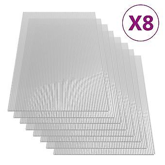 vidaXL polycarbonaat platen 8 st. 4 mm 121 x 60 cm