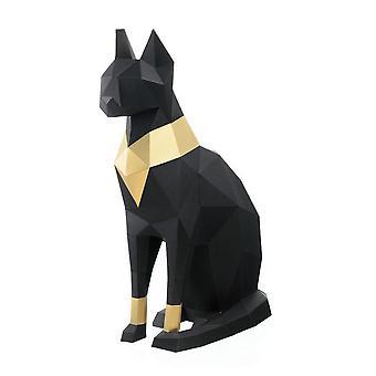 Egyptiläinen kissajumala 3D Papercrafts, Söpöt eläimet Taide ja käsityöt DIY Sarjat 3D Origami Paper Puzzle Art Craft Kit