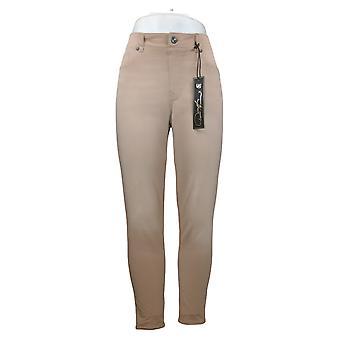 DG2 By Diane Gilman Women's Pants Knit Flex Pull-On Skinny Beige 730608