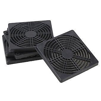 Für 5pcs Standard 120mm PC Kühlventilator Staubdicht Anti Dust Black Plastic Filter Mesh WS5499