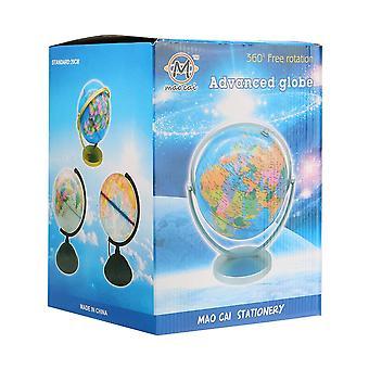 Świat ziemi mapa kuli ziemskiej 360°obrotowy geografii edukacyjna dekoracja elementów domowych dom idealny miniatury gadżet biurowy prezent
