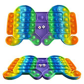 Fidget Toy Autism Pop Big Game Rainbow Chess Board Push Bubble Popper Fidget Sensory Toys Anti Stress Children Adults Gifts