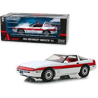 El Equipo A 1984 Chevrolet Corvette C4 1:18 Escala Greenlight 13532